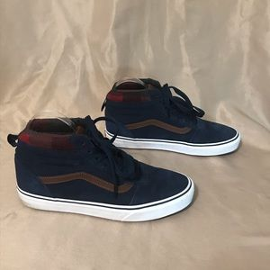 Vans size 8 high tops with flannel lining